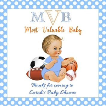 Sport Baby Shower Favor Tags