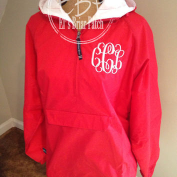 Monogrammed Insulated Rain Jacket Pullover Personalized Embroidered