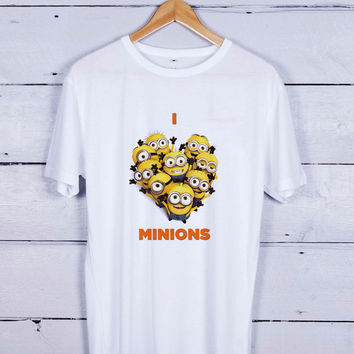 I Love Minions Poster Tshirt T-shirt Tees Tee Men Women Unisex Adults