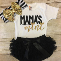 Glitter Bodysuit, Mama's Mini Outfit, Baby Girl Clothes, Mommy's Girl, Leg Warmer Set, Mommy and Me, New Baby Gift, Baby Shower Gift