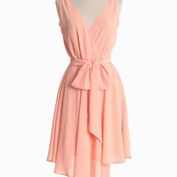 Harmony Dress By BB Dakota In Peach