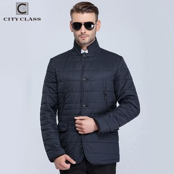 New men spring quilted jackets corduroy collar business fashion casual slim outwear for male