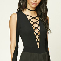 Strappy Plunging Bodysuit