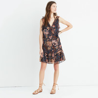 Lily Ruffle Dress in Sea Floral