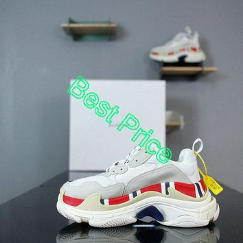 2018 Cheap Priced Balenciaga Triple S x Gucci White Greey Red sneaker