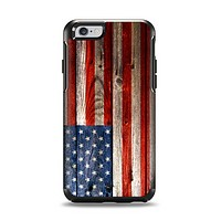 The Wooden Grungy American Flag Apple iPhone 6 Otterbox Symmetry Case Skin Set