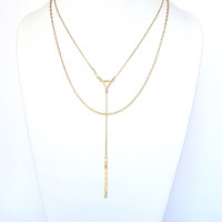 Jeopardy Layered Necklace In Gold