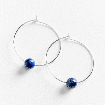 Genuine Stone Large Hoop Earring | Urban Outfitters