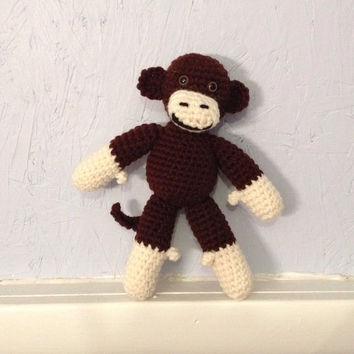 Monkey - Stuffed Animal - Amigurumi - crocheted toy
