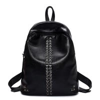 Comfort Hot Deal Back To School College On Sale Korean Rivet Stylish Casual Backpack [4982888772]