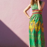 Mintzita Maxi Dress by Anthropologie Green Motif