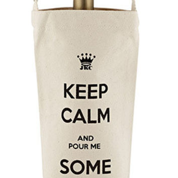 Keep Calm and Pour Me Some... Bottle Bag by JKC
