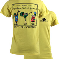 SALE Southern Couture Life Needs More Southern Belles Cocktails Girlie Bright T Shirt
