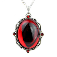 Gothic Blood Red Stone Vampire Necklace