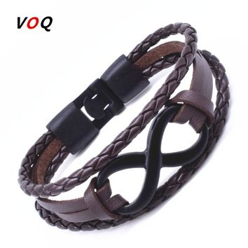 Mystic's Infinity Bracelet  High Quality Double Leather Bracelet