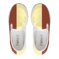 Tan And Cream Block Loafers