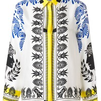 Iconic Pattern Silk Shirt by Versace