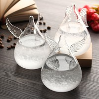 Angel Wings Weather Forecast Crystal Storm Glass Decor Christmas Xmas Gift