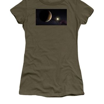 Solar System Watercolor Series No 1a - Women's T-Shirt (Athletic Fit)
