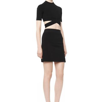 Alexander Wang CRISS CROSS CROP TOP TOP |Official Site