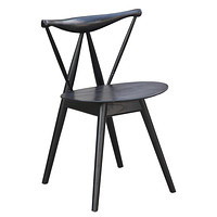 Fronter Solid Wood Dining Chair, Black