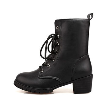 Womens Urban City Moto Rugged Boots