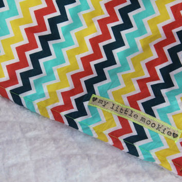 Chevron Stripe Baby Blanket by mylittlemookie on Etsy