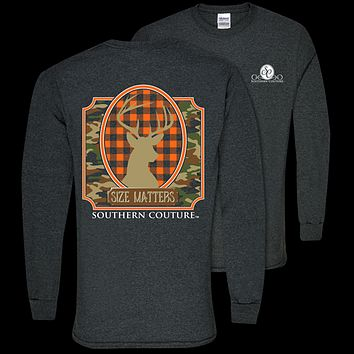 Southern Couture Classic Size Matters Deer Long Sleeve T-Shirt