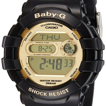 Casio Unisex BGD141-1 Baby-G Black and Gold Watch