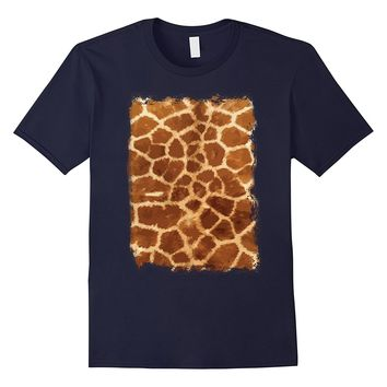 Giraffe Print T Shirt Animal Fur Africa African Graphic Tee