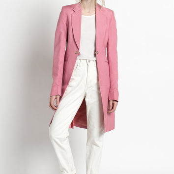 Vintage 70s Rose Pink Fitted Long Tuxedo Jacket   2