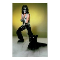 KISS Peter Criss with Panther Poster Print from Zazzle.com