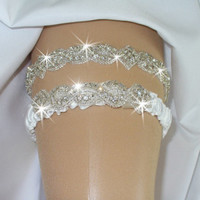Garter, Wedding Garter, Rhinestone Garter, Crystal Garter, Garter Set, Bridal Garter, Weddings