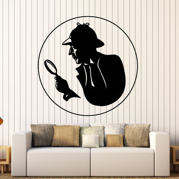 Wall Vinyl Decal Sherlock Holmes Victorian Era Private Detective Home Decor Unique Gift z4426