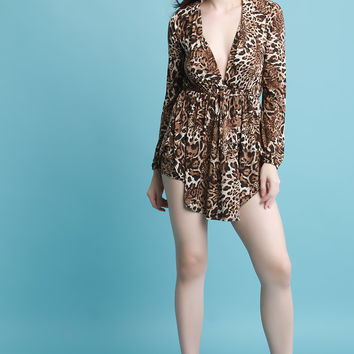 Leopard Print Shirt with Shorts Set | UrbanOG