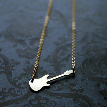 Little Rock Guitar Necklace by bLuGrnDesign on Etsy