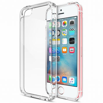 For Coque iPhone SE Case Clear Cushion Protective Bumper For Apple iPhone SE 2016 5S 5 Shock-Absorbing Cover Hard Back Panel New