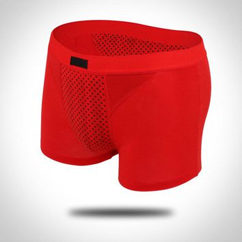 Men Sexy Underpants  Physiotherapy Health Magnet Underwear Breathable Panties Knickers Man Boxer Shorts XL-4XL FS9