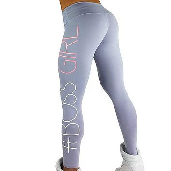 #BOSS GIRL Workout Push Up Leggings Women