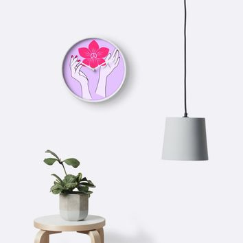 'Holy orchid' Clock by EuGeniaArt