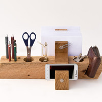 Large Desk Organizer Wood Office Organizer Desk Storage AUGUST