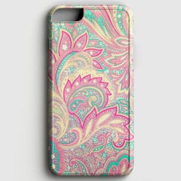 Pink Turquoise Girly Chic Floral Paisley Pattern iPhone 6 Plus/6S Plus Case | casescraft