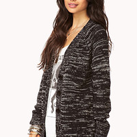 Relaxed Heathered Cardigan