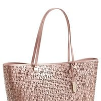 Women's Ivanka Trump 'Julia' Geometric Cutout Shoulder Tote - Pink