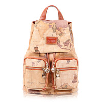 Brand New Trendy Vintage Brown World Map Backpack