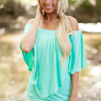 Mint Versatile V Layered Top