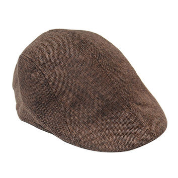 5 Colors Mens Vintage Herringbone Flat Cap Male Durable Peaked Riding Hat Beret Country Golf Hats 1PC