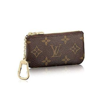 LV Louis Vuitton Fashion Monogram Canvas PU Small Coin Purse Key Pouch G