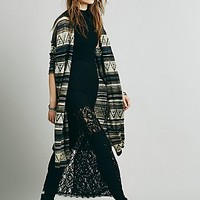 Free People Womens Cocoon Fine Gauge Pattern Cardi