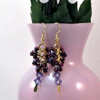 Grapes of Wrath Chainmaille Earrings by XquisitelyLadyM on Zibbet